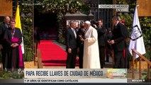 El Papa Francisco recibe llaves de ciudad de México
