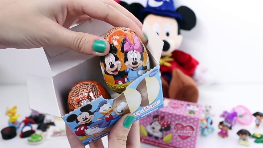 Minnie Mouse Huevos Sorpresa Mickey Mouse Surprise Eggs Disney Überraschung Eier Spielzeug Toys
