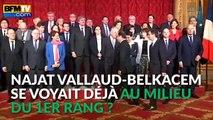 Najat Vallaud-Belkacem prend la place de François Hollande sur la photo du gouvernement