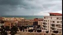 une tornade sur mer à mostaganem Algerie