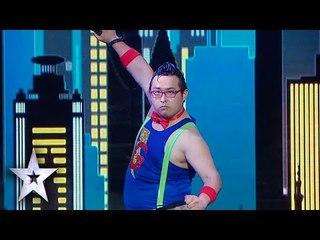 Tambourine Master Transforms Into Super Gonzo! | Asia's Got Talent Semis 1
