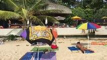 Sexy girls at Binis beach Surin Beach Phuket Thailand 2016