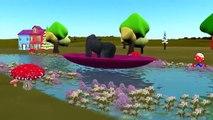 Dinosaurs, Elephant & Gorilla Cartoon In Rain Rain Go Away & Row Row Your Boat Nursery Rhy