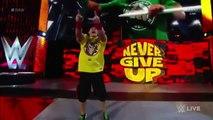 John Cena Vs Seth Rollins (Steel Cage Match) WWE RAW 2016 - Brock Lesnar Returns