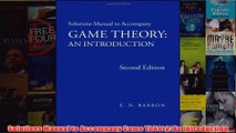 Download PDF  Solutions Manual to Accompany Game Theory An Introduction FULL FREE