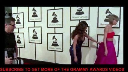 grammy awards 2016 taylor swift selena gomez on the red carpet 2016 grammy awards hollywood buzz tv