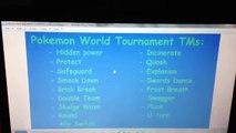 Pokemon Black/White2 TM Locations from the Pokemon World Tournament.