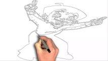 How To Draw Chota Bheem Dance Cartoon