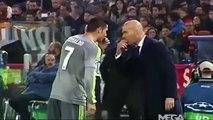 Cristiano Ronaldo y Zidane pactan el cambio durante AS Roma-Real Madrid