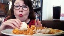 mukbang épisode 2 avec la nourriture des bruits de délicieuses lèvres des bruits retentissants de Poulet haricots fromage