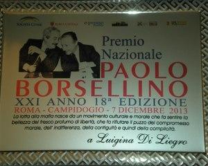 366 - Premio Borsellino 2013 - 2- Luigina Di Liegro