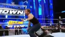Brock Lesnar Attacks Dean Ambrose , Roman Reigns WWE Smackdown 18-2-2016