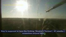 Ukrainian airforce helicopter taking a direct hit from a hand held surface-to-air missile