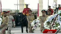 Le Caire: parade militaire en l'honneur de Boutros Boutros-Ghali