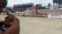 Black Dude's Funny Reaction To Hearing a Dragster For The First