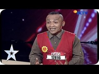 Guy playing with Baloon - A. Rokman Basir - Audition 1 - Indonesia's Got Talent