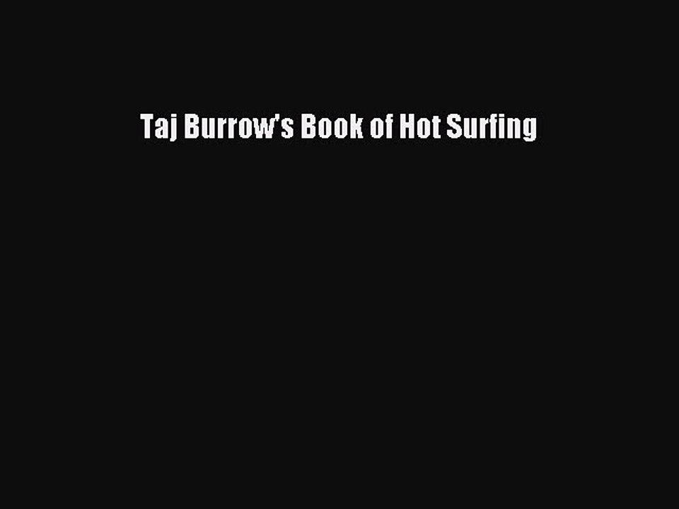 taj burrows book of hot surfing