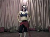 Belly Dancing - Belly Dance Video Drill - How to belly dance grapevine with a lift and drop