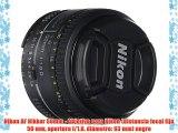Nikon AF Nikkor 50mm - Objetivo para Nikon (distancia focal fija 50 mm apertura f/1.8 diámetro: