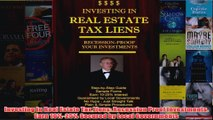 Download PDF  Investing in Real Estate Tax Liens Recession Proof Investments Earn 1025 Secured by FULL FREE