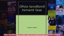 Download PDF  Ohio landlord tenant law Baldwins Ohio handbook series FULL FREE