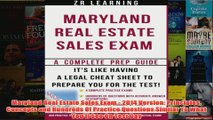Download PDF  Maryland Real Estate Sales Exam  2014 Version Principles Concepts and Hundreds Of FULL FREE