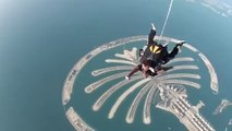 skydive Me jumping out of a plane Dubai 2016