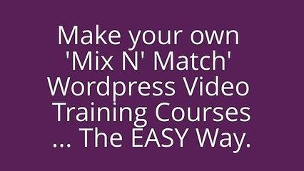 Tutorial Mixer [Early  Bird Offer] -- Wordpress PLR Video Tutorials