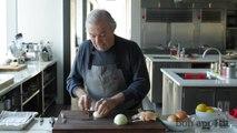 Jacques Pépin Dices an Onion