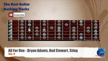 All For One - Bryan Adams, Rod Stewart, Sting Guitar Backing Track