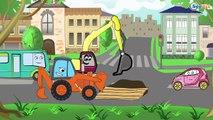 ✔ Pelleteuse sur un chantier de construction / Dessins animés pour les plus petits ✔