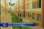 Más de 900 viviendas fueron entregadas por el presidente Correa