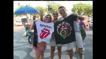 Rolling Stones estão no Rio de Janeiro para o primeiro show da banda no Brasil