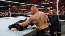 WWE Wrestling 2015 _ Seth Rollins vs Brock Lesnar _ Full Match _- WWE World Heav