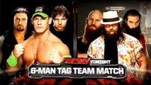 John Cena & Dean Ambrose & Roman Reigns Vs The Wyatt Family WWE RAW FULL HD Match