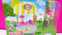 Barbie Little Sister Doll Chelsea Lemonade Stand Playset Toy Unboxing Video Cook