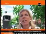 Sylvie ANDRIEUX  signe le pacte écologique de Nicolas HULOT