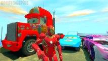 Iron Man mark 45 Mack Truck Boost Dinoco King 43 Disney cars