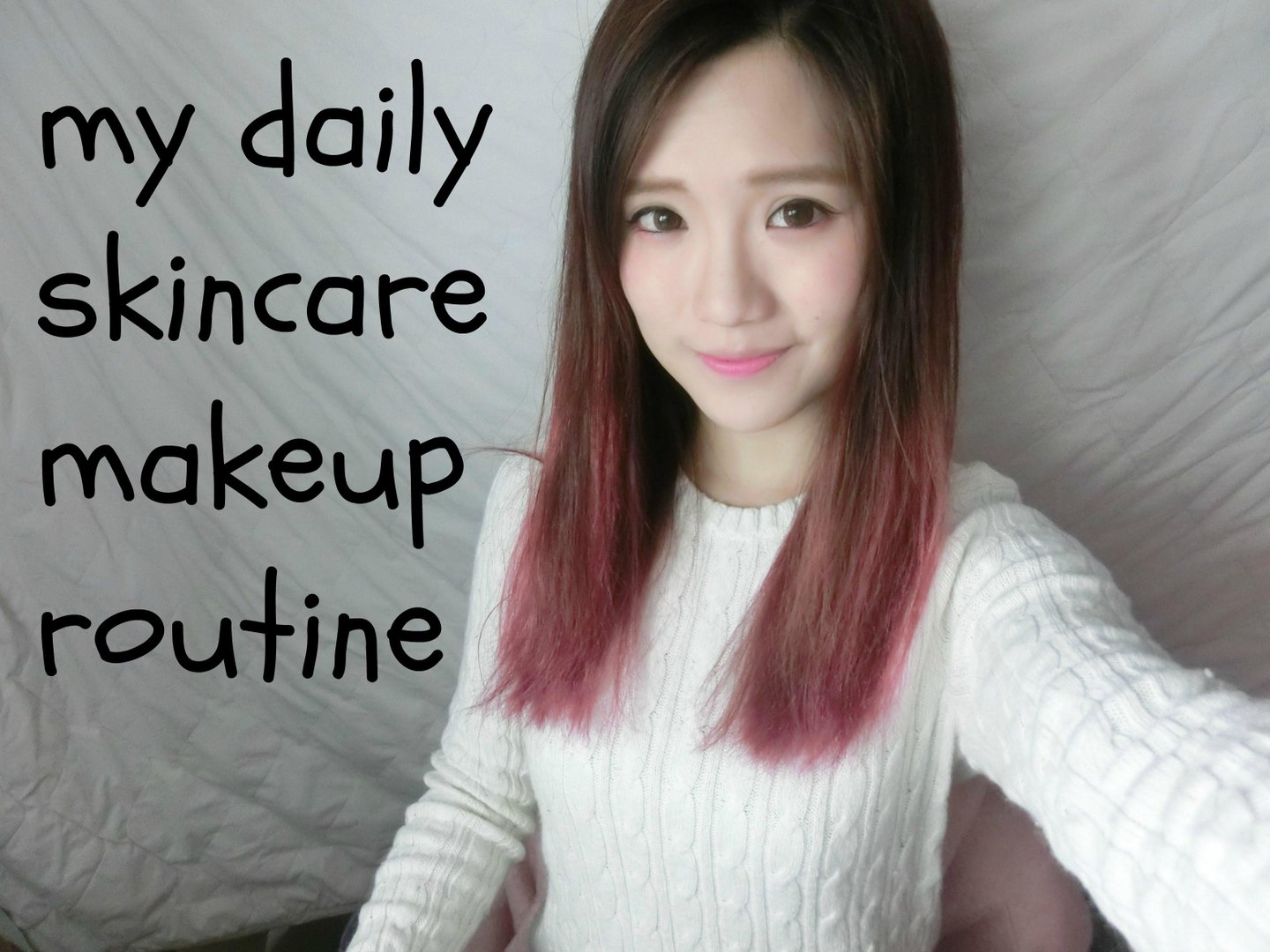 jcchung daily skincare + makeup routine