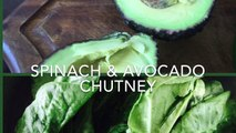Spinach & avocado chutney/ dip : very healthy yummy recipe with raw ingredients