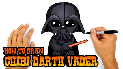 Learn How to Draw Chibi Darth Vader (Star Wars)- Step by Step Lesson
