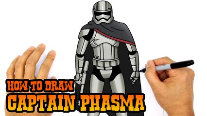 How to Draw Captain Phasma (Star Wars)- Step by Step Lesson