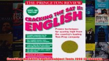 Download PDF  Cracking the SAT II English Subject Tests 1998 ED Annual FULL FREE
