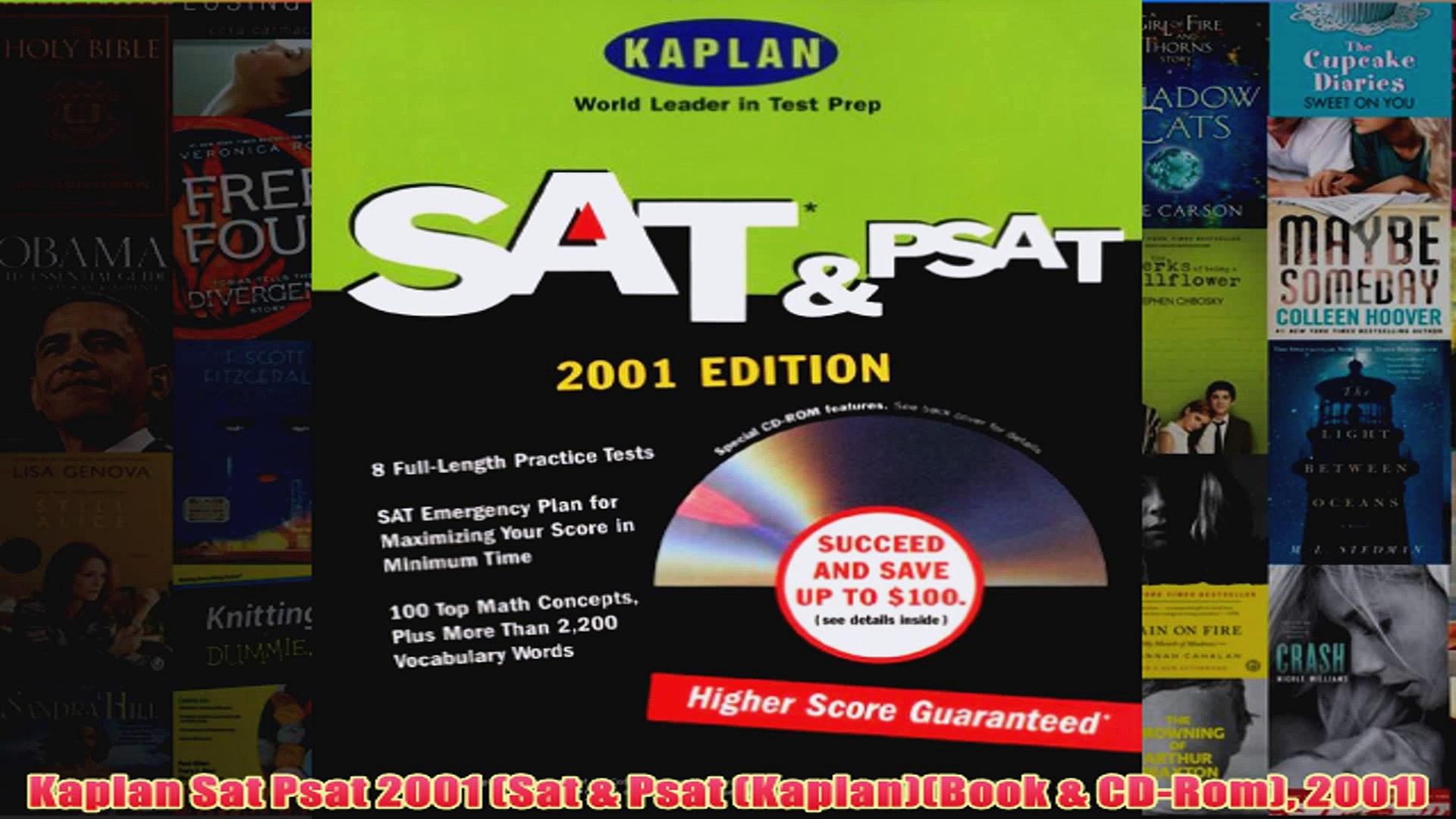 Download PDF  Kaplan Sat Psat 2001 Sat  Psat KaplanBook  CDRom 2001 FULL FREE