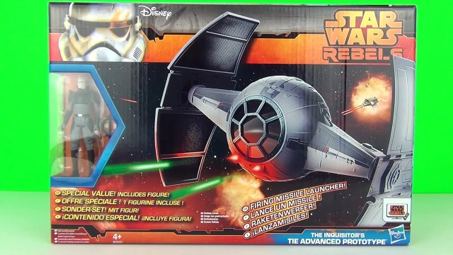 Star Wars Rebels: The Inquisitors Tie Advanced Prototype Playset Toy Review, Hasbro