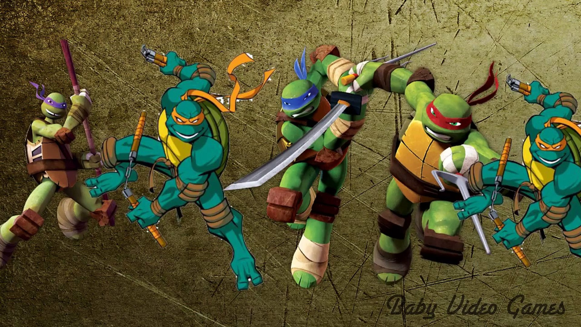 Ninja Turtles Daddy Finger Family Kids Music Video