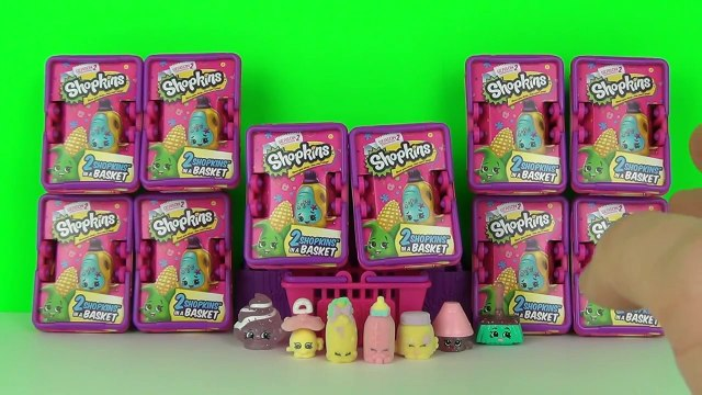 Surprise Shopkins Season 2 Blind Baskets x10 Opening & Toy Review, Moose Toys