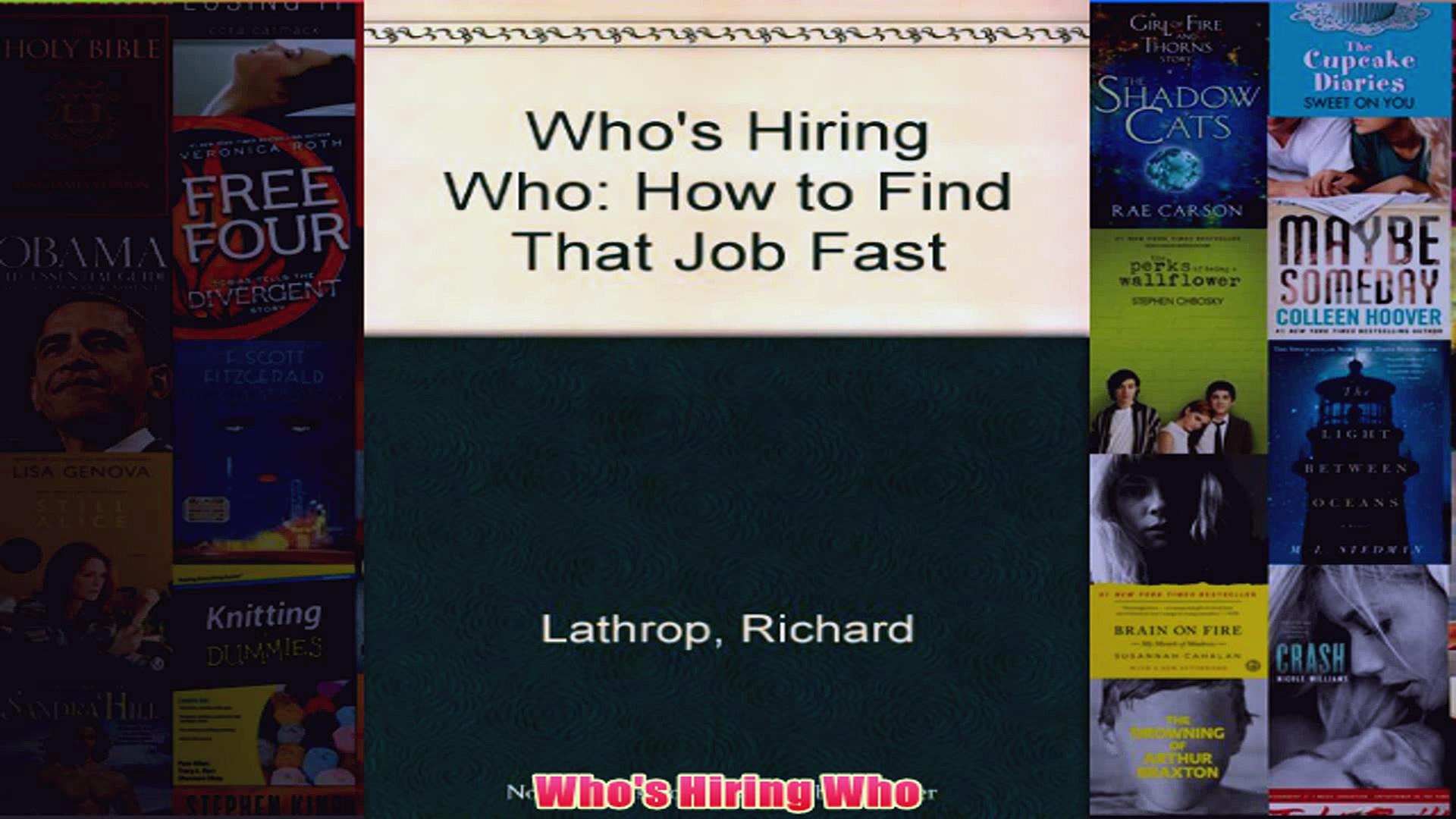 Download PDF  Whos Hiring Who FULL FREE