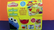 Cookie Monster Play Doh Lunch Box Play-Doh 1-2-3 Lunch Box Fun Count N Crunch Cookie Monster