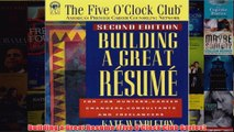Download PDF  Building a Great Resume Five OClock Club Series FULL FREE